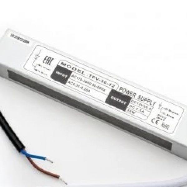 Блок питания 30 Вт IP67 12V slim