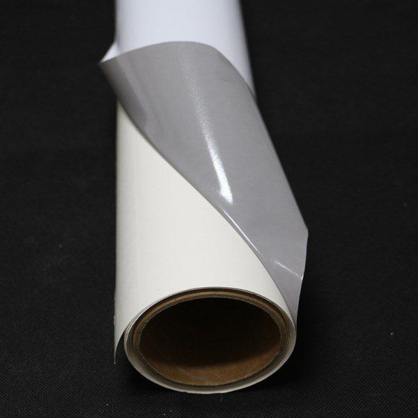 Самокл. ПВХ плёнка, серый клей/блокаут, белая мат 1,27х50м (100 мкр/140 гр)