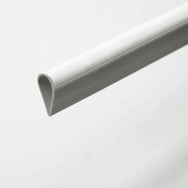 Клем-профиль пласт. паз 4 мм, белый, 3 м.